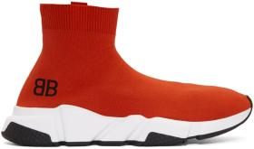 Balenciaga Red Speed High-Top Sneakers