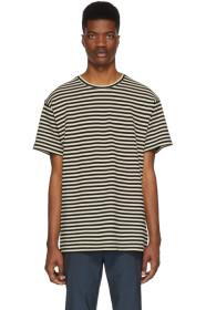 Paul Smith Black & Off-White Striped Knit T-Shirt