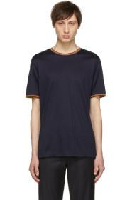 Paul Smith Navy Multi Stripe T-Shirt