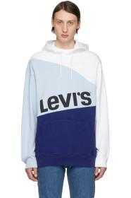 Levi's Blue & White Crooked Hoodie