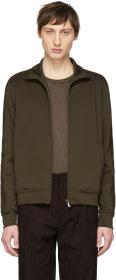 Bottega Veneta Green Zip-Up Jacket