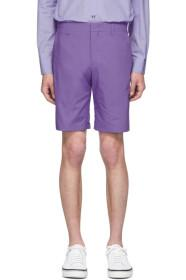 Paul Smith Purple Cotton Shorts