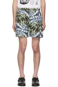 Aries Green & Blue Leopard Animal Board Shorts