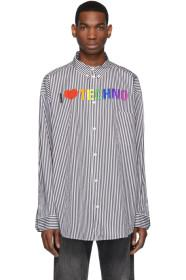 Balenciaga Black & White 'I Love Techno' Shirt