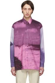 Paul Smith Purple Paul's Photo Oversized Shirt