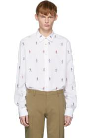 Paul Smith White People Print Shirt