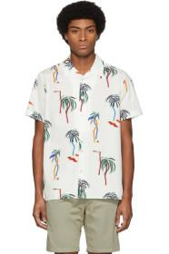 PS by Paul Smith White Palm Tree Short Sleeve Shir