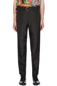Paul Smith Black Silk Cuffed Trousers
