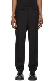 Fendi Black Wool Micro Point Trousers