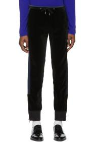 Paul Smith Black & Navy Velvet Lounge Pants