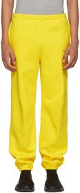 Balenciaga Yellow Logo Lounge Pants