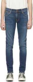 Nudie Jeans Blue Organic Tight Terry Jeans