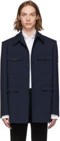 Balenciaga Navy Military Jacket