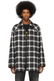 Balenciaga Black & White Flannel Coat