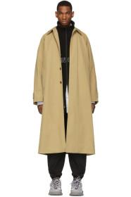 Balenciaga Beige Long Opera Car Coat