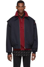 Balenciaga Navy Twin-Set Jacket