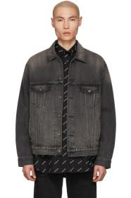 Balenciaga Black Denim 'You Are The World' Jacket