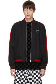 McQ Alexander McQueen Black Racing Soft MA-1 Bombe