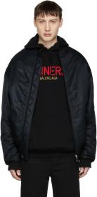 Balenciaga Black 'Sinners' Wobble Bomber Jacket