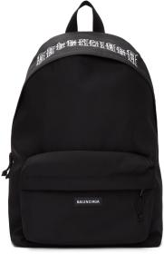 Balenciaga Black Tattoo Explorer Backpack