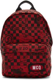 McQ Alexander McQueen Red Racer Check Classic Back