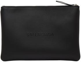 Balenciaga Black Everyday Logo Pouch