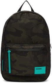 Diesel Green & Black Camo F-Discover Backpack