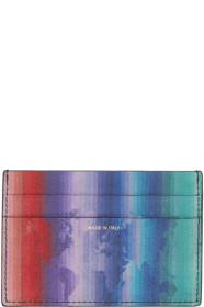Paul Smith Black Rainbow Map Card Holder