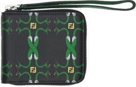Fendi Black Snake Zip Wallet