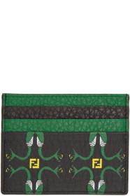 Fendi Black Snake Print Card Holder