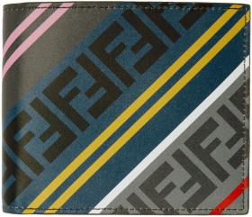 Fendi Grey & Multicolor 'Forever Fendi' Bifold Wal