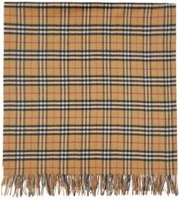 Burberry Beige Cashmere Vintage Check Poncho