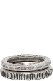 Ann Demeulemeester Silver Band Ring Set