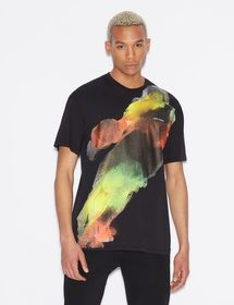 Armani T-SHIRT WITH MULTICOLOUR PRINT
