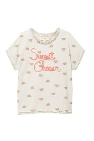 Jessica Simpson Ellie Frayed and Embroidered Top (