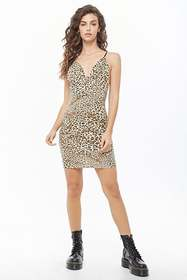 Forever21 Leopard Print Cami Bodycon Dress