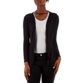 RAE REPUBLIC Long Sleeve Peplum Hem Cardigan