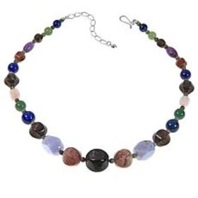 "Jay King Multicolor Multigemstone Bead 18"" Necklac"