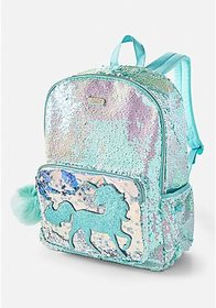 Justice Unicorn Flip Sequin Shaky Backpack