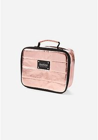 Justice Rose Gold Quilted Lunch Tote