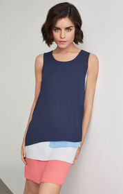 BCBG Haley Colorblocked Tank Dress