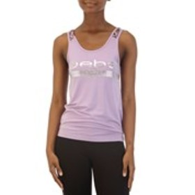 BEBE SPORT Caged Tank Top with Foil Logo