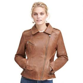 Wilsons Vintage Asymmetrical Moto Leather Jacket w