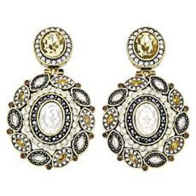 "Heidi Daus ""Enchante"" Oval Crystal Drop Earrings"