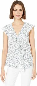 1.STATE Afternoon Bouquet Flounce Edge Blouse