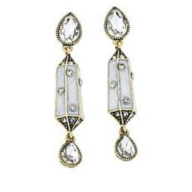"Heidi Daus ""Contemporary Classic"" Drop Earrings"