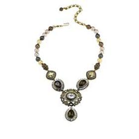 "Heidi Daus ""Enchante"" Beaded Crystal Drop Necklace"