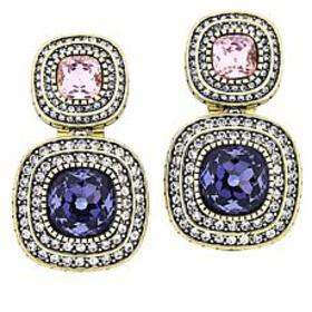 "Heidi Daus ""Enchante"" Cushion-Shaped Drop Earrings"