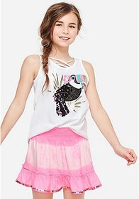 Justice Embellished Criss Cross Tank
