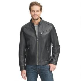 Marc New York Leather Jacket w/ Chest Zipper